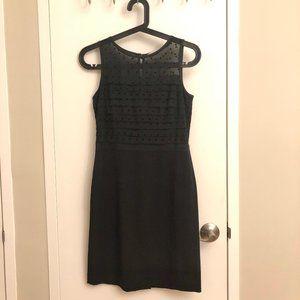 LOFT Little Black Dress with Silky Gauze